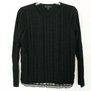 J. Crew crochet long sleeve shirt black small